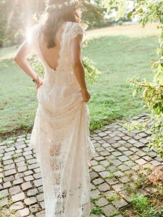 Daughters of Simone - bohemian wedding dress inspiration     SheerEverAfter.wordpress.com