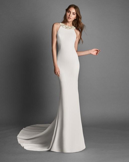 Wedding Dress by Alma Novias // Alicia Vikander Wedding Ideas // SHEER EVER AFTER WEDDINGS