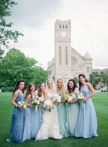 #weddingideas #bridesmaids #bluewedding #mismatchedbridesmaids #bluebridesmaids #bridesmaiddresses #bridalideas #bridedsmaidlooks #uniquewedding #bohemianwedding #modernwedding #sheereverafter