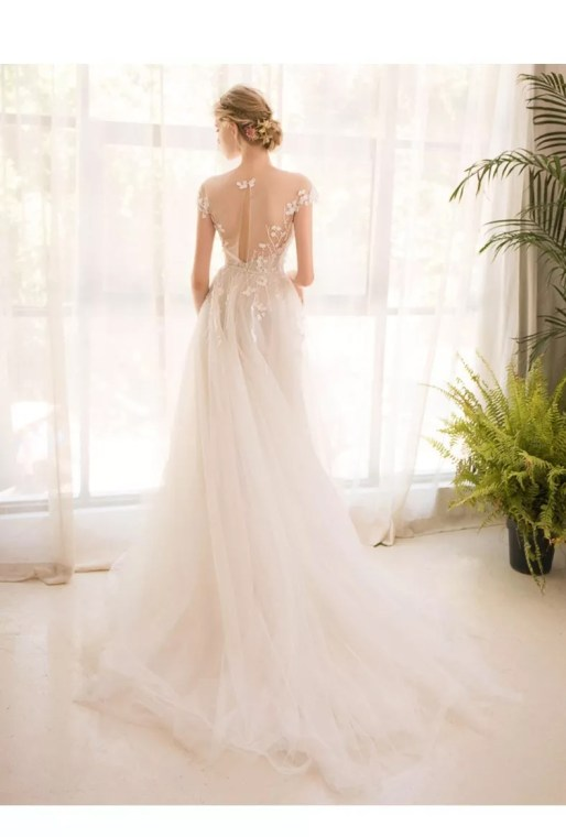 Wedding Dress by Alcinha Lindo // Alicia Vikander Wedding Ideas // SHEER EVER AFTER WEDDINGS