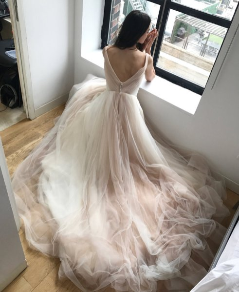 We Think You Might Love These Beautiful Blush Ballgowns and 14 other Fabulous Wedding Ideas for your 2018 Wedding Celebration ..... @Sheer Ever After wedding blog. SheerEverAfter.wordpress.com