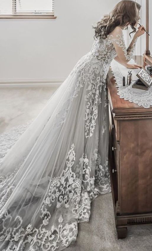 Grey Wedding Dress by Paolo Sebastian // Alicia Vikander Wedding Ideas // SHEER EVER AFTER WEDDINGS