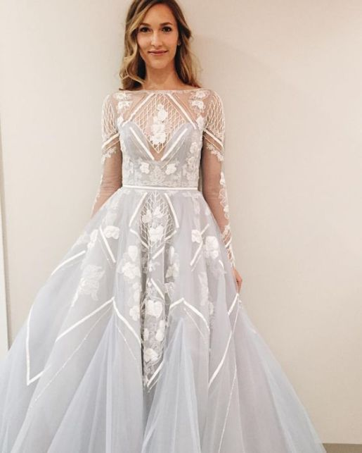 Pale Blue Hayley Paige Wedding Dress // Alicia Vikander Wedding Ideas // SHEER EVER AFTER WEDDINGS