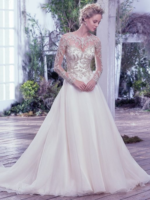 Lorenza Dress by Maggie Sottero // Alicia Vikander Weddng Ideas// SHEER EVER AFTER WEDDINGS