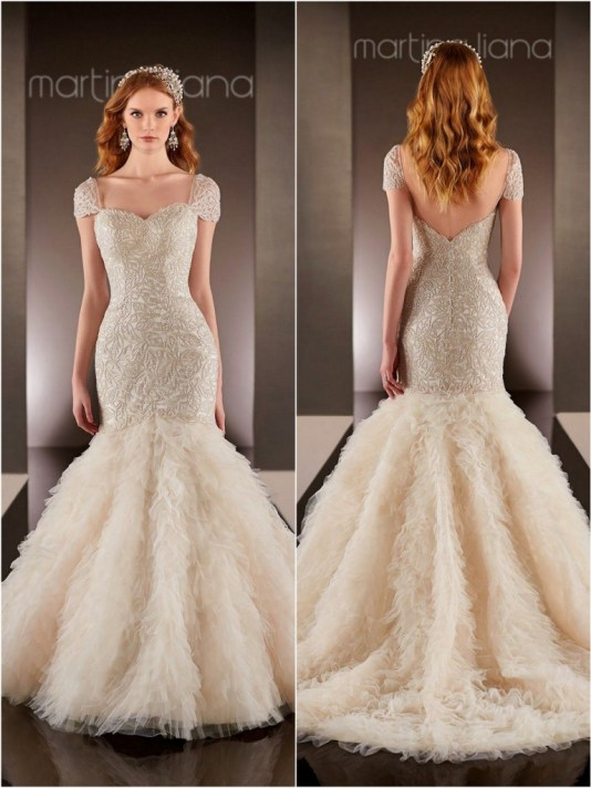 Wedding Dress by Martina Liana // Alicia Vikander Wedding Ideas // SHEER EVER AFTER WEDDINGS