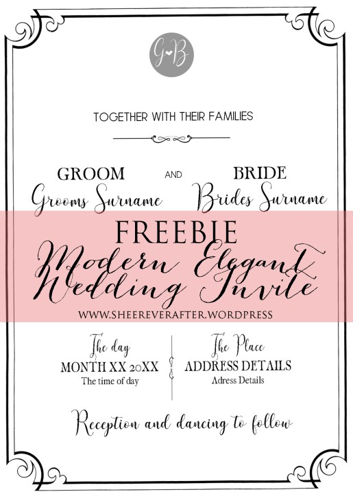 FREE WEDDING INVITE // Modern Elegance Font Collection // SHEER EVER AFTER WEDDINGS