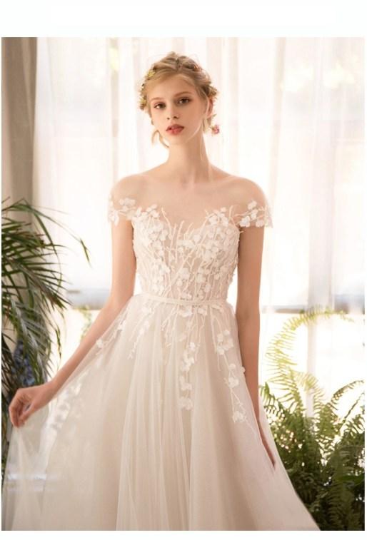 Wedding Dress by Alchina Lindo // Alicia Vikander Wedding Ideas // SHEER EVER AFTER WEDDINGS