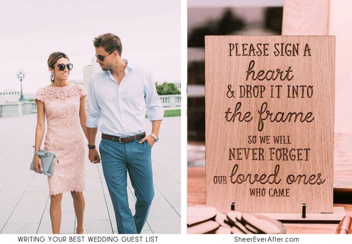 Tips you need to know to write the perfect guest list for your wedding SheerEverAfter.com