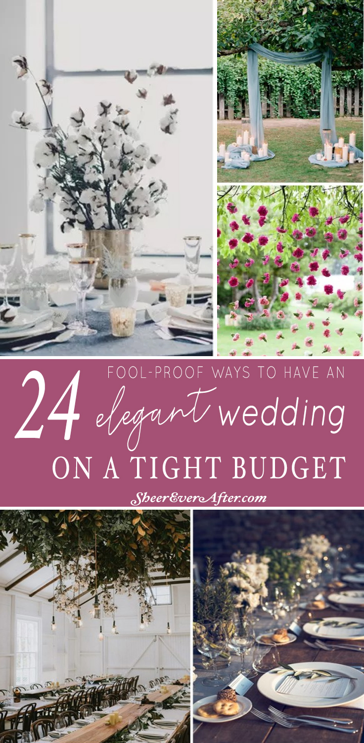 Save unnecessary expenses by  skipping these wedding details - and have an elegant wedding anyway | This and more at www.SheerEverAfter.com