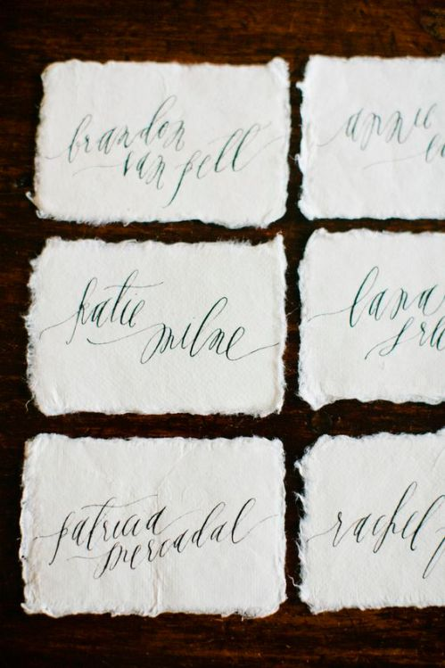 These sweet and creative escort cards are easily to DIY and will charm your guests | This and more at www.SheerEverAfter.com