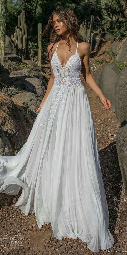20 Dreamy Whimsical Boho Beach Wedding Dresses