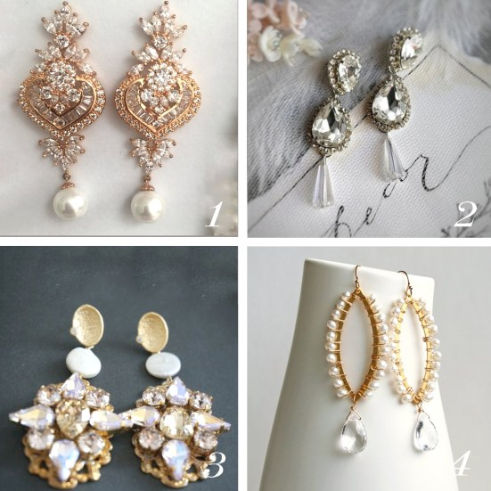 Find out which style of earrings fits your facial feature and wedding style   SheerEverAfter.com   Your online maid of honor