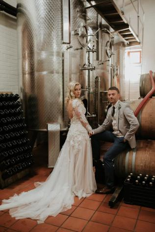 wedding wine cellar