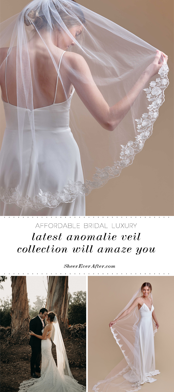 Anomalie latest veil collection | Sheer Ever After | Your online maid of honor