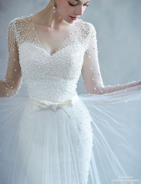 Pearl embellished wedding dresses and accessories | Sheer Ever After | Your Online Maid of Honor
