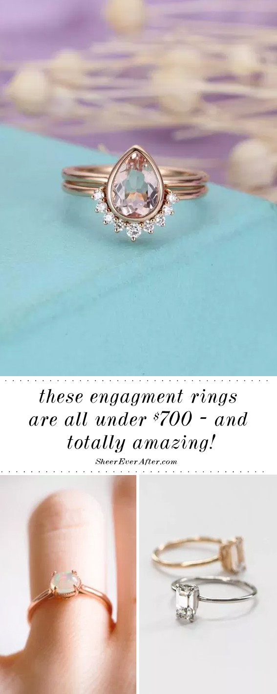 Engagement rings under $700   Sheer Ever After   Your online maid of honor