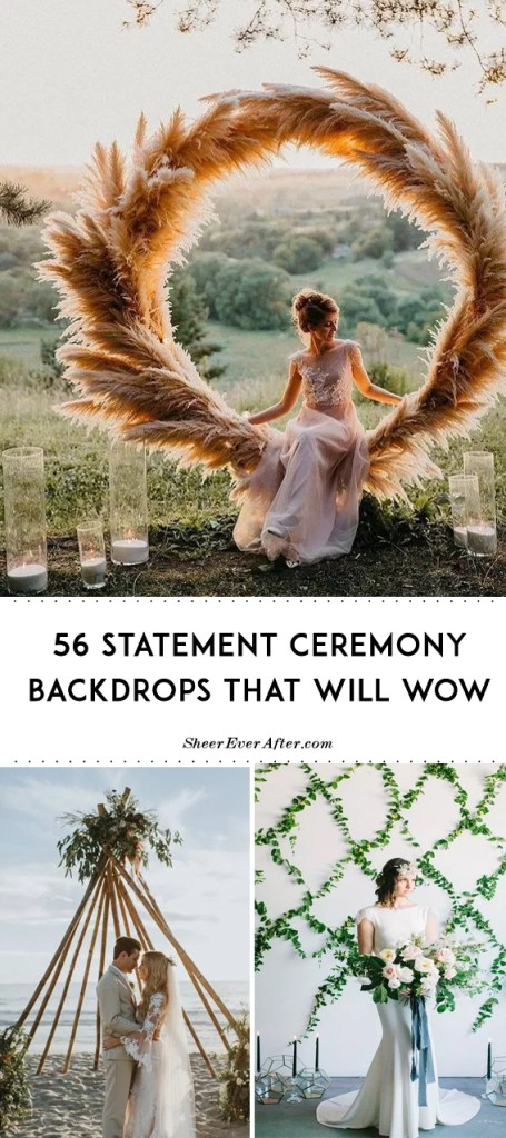 Jaw-dropping ceremony arches | SheerEverAfter.com | Your online maid of honor