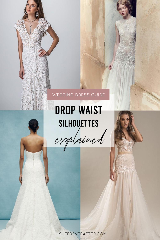 #weddingdress #weddingdresssilhouettes #bridalgown #bridal #weddingday #weddingideas #beautifuldress #aline #DROPWAIST