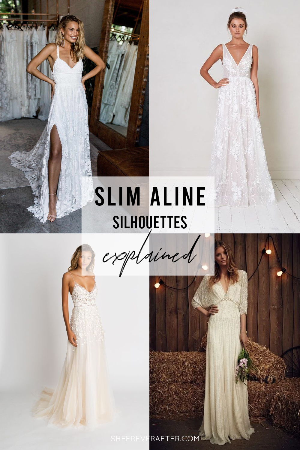 #weddingdress #weddingdresssilhouettes #bridalgown #bridal #weddingday #weddingideas #beautifuldress #aline