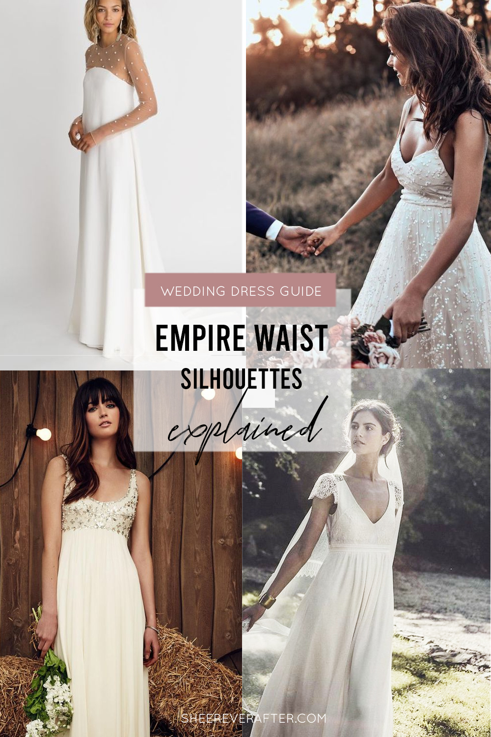 #weddingdress #weddingdresssilhouettes #bridalgown #bridal #weddingday #weddingideas #beautifuldress #empire #empiregown