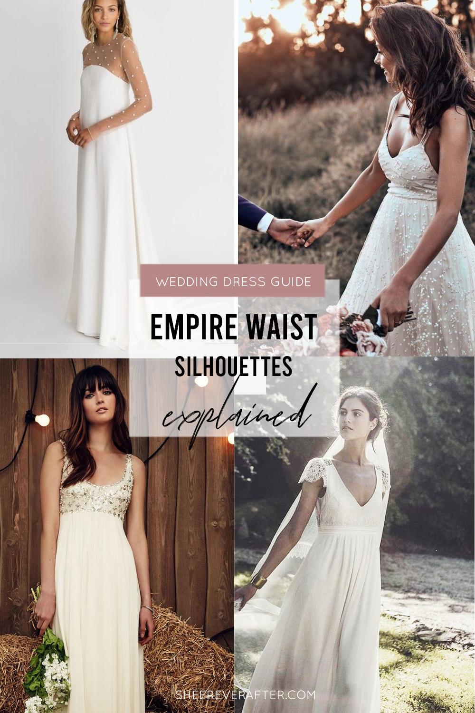 #weddingdress #weddingdresssilhouettes #bridalgown #bridal #weddingday #weddingideas #beautifuldress #empire #empiregown