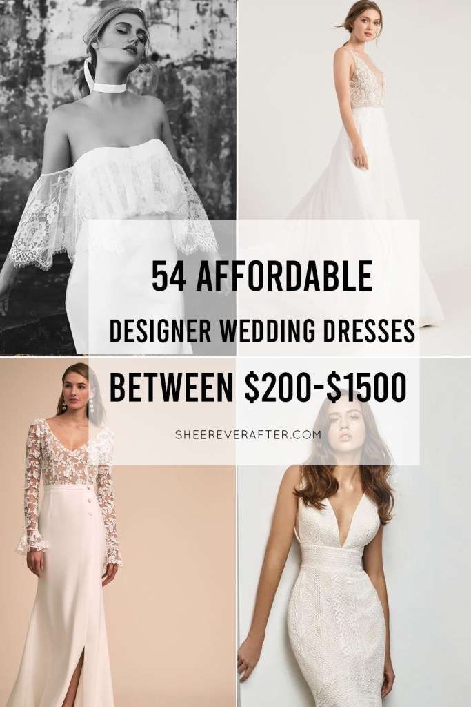 50 Affordable Designer Wedding Dresses That You And Your Wedding Budget Will Love Sheer By Jo Malin