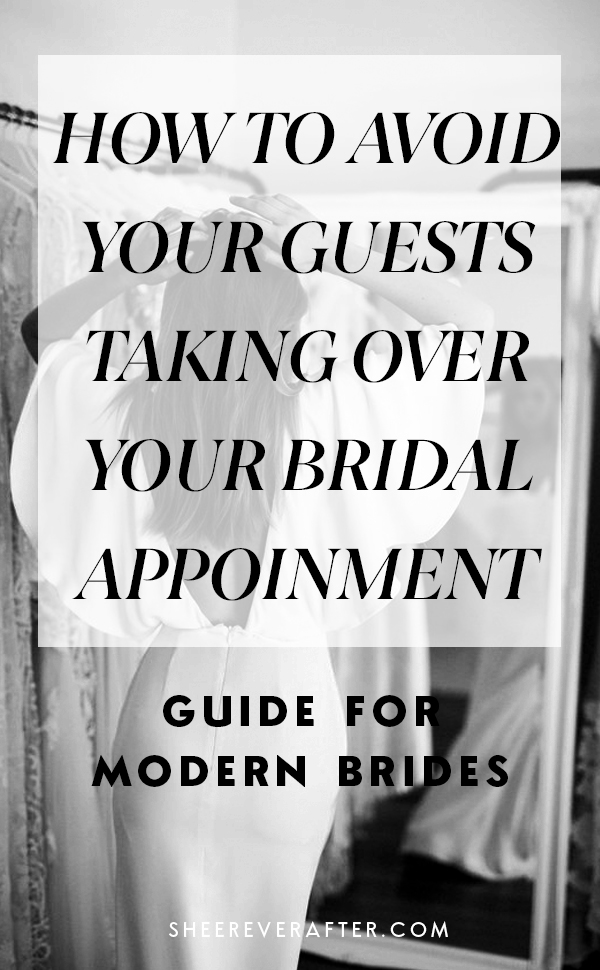 Shopping for a wedding dress is an emotional decision. We explain how to manage guests at your bridal appointment and how to overcome potential challenges during your search for your dream wedding dress.