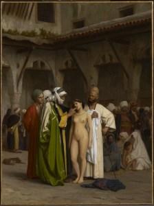 painting Slave Market by Jean-Léon Gérôme