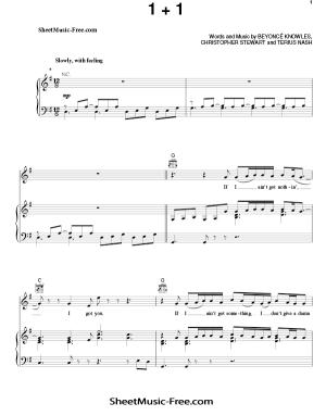 Download 1+1 Sheet Music Beyonce