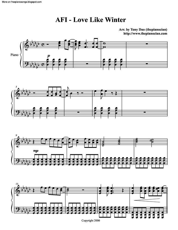 Years Love Piano Sheet Music