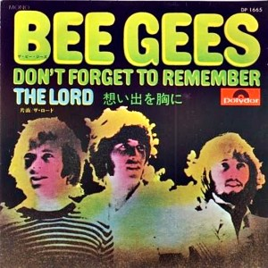 Download bee gees dont forget to remember rock sheet music pdf