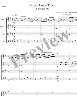 Dream Come True string quartet only-page-001