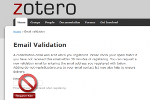 Zotero_Email_validation