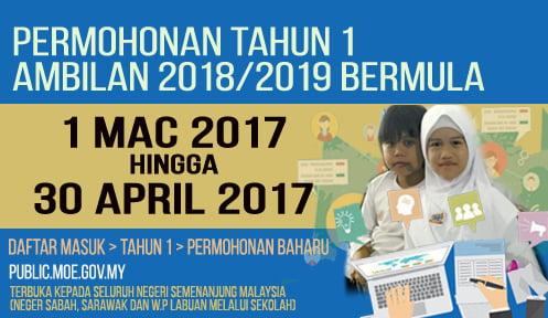 PENDAFTARAN TAHUN 1 2018-2019