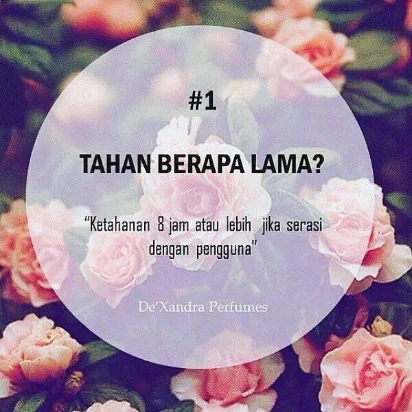PERFUME BAJET TETAPI TAHAN LAMA BAUNYA! PERFUME DEXANDRA - 9