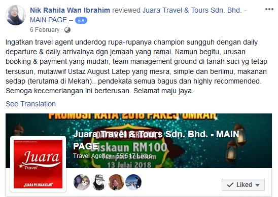 Juara Travel Pakej Umrah dan Haji Terbaik (1)