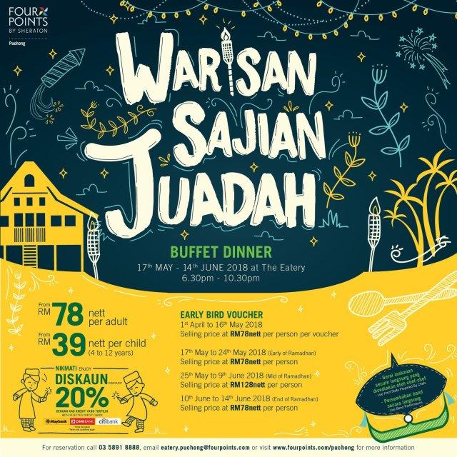TERUJA DENGAN WARISAN SAJIAN JUADAH DI FOUR POINTS BY SHERATON PUCHONG