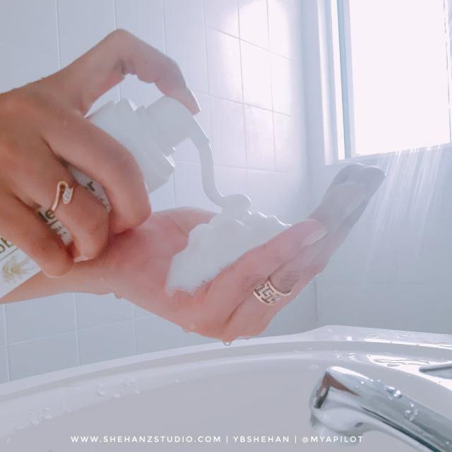ALOE AC CLEAN BUBBLE CLEANSER & AQUA WHITENING CREAM HANSAEGEE NATURE REVIEW (44)