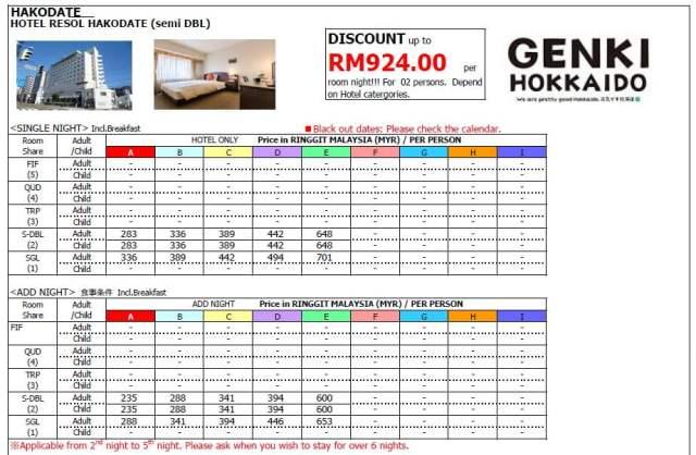HOTEL RESOL HAKODATE (SEMI DOUBLE) (1)