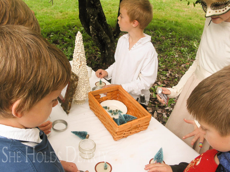 outdoor birthday party, craft