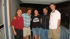 Mike, Danny, Christie, Mark & Kevin on Betty's porch.