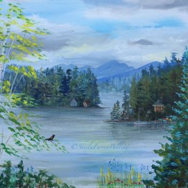 "Alton Bay, acrylic, 16"" x 20"" (Alton Bay, Lake Winnipesaukee, NH)"