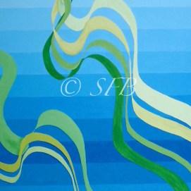 "Pacific Waves, acrylic, 18"" x 24"""