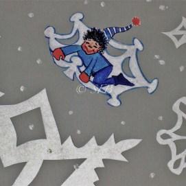 "Snow Surfer, mixed media, 8"" x 10"""