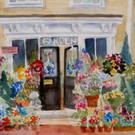 """Perennial Favorite, watercolor, 8"""" x 10"""" (Old Town, Marblehead, MA)"""