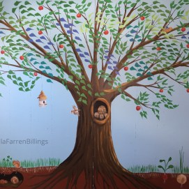 Tree Mural, Curious City Pop-Up Children's Museum, Peabody, MA
