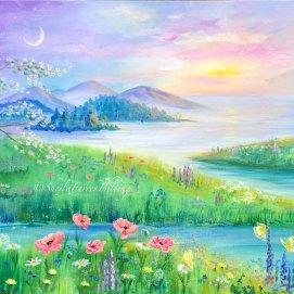 """Dreamscape, acrylic, 24"""" x 36"""""""