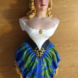 Painted Jenny Lind figurehead for the Lady of Salem Project, Salem, MA