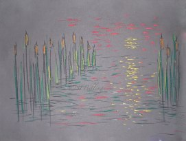 "Marsh Impression, pastel, 18"" x 24"""