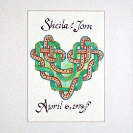 "Custom Green Heart, ink & pencil, 8"" x 10"""